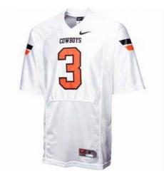 NCAA Oklahoma State Cowboys 3 maselera white jerseys
