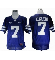 NEW Kansas State Wildcats Collin Klein 7 Purple Big 12 Patch College Football Jerseys