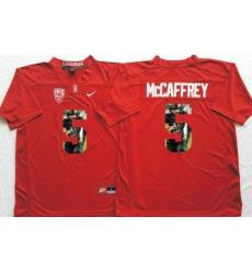 Louisville Cardinals #5 Christian McCaffrey Red Player Fashion Stitched NCAA Jersey