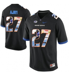 Boise State Broncos #27 Jay Ajayi Black With Portrait Print College Football Jersey3
