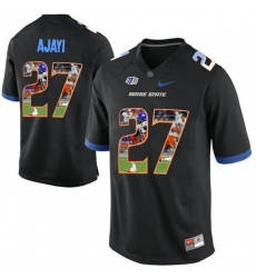 Boise State Broncos #27 Jay Ajayi Black With Portrait Print College Football Jersey4