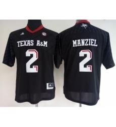 Texas A&M Aggies 2 Johnny Manziel Black College Football Jersey