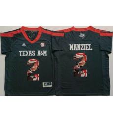 Texas A&M Aggies #2 Johnny Manziel Black Player Fashion Stitched NCAA Jersey