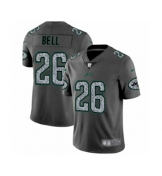 Men's New York Jets #26 Le'Veon Bell Limited Gray Static Fashion Limited Football Jersey