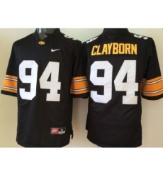 Iowa Hawkeyes 94 Adrian Clayborn Black College Football Jersey