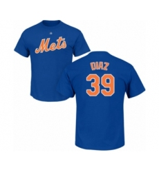 Baseball New York Mets #39 Edwin Diaz Royal Blue Name & Number T-Shirt