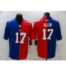 Men's Buffalo Bills #17 Josh Allen Blue-Red Nike Split Fashion Football Limited Jersey