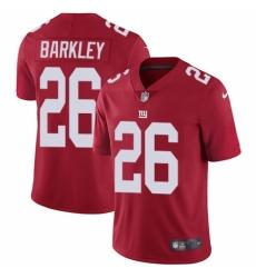 Men's Nike New York Giants #26 Saquon Barkley Red Alternate Vapor Untouchable Limited Player NFL Jersey