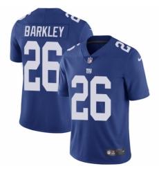 Men's Nike New York Giants #26 Saquon Barkley Royal Blue Team Color Vapor Untouchable Limited Player NFL Jersey