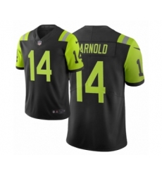Men New York Jets #14 Sam Darnold Black Green City Edition Vapor Limited Jersey