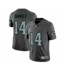 Men New York Jets #14 Sam Darnold Limited Gray Static Fashion Limited Football Jersey
