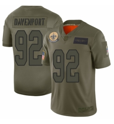 Men's New Orleans Saints #92 Marcus Davenport Limited Camo 2019 Salute to Service Football Jersey