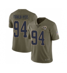 Men's Los Angeles Rams #94 John Franklin-Myers Limited Olive 2017 Salute to Service Football Jersey