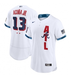 Men's Atlanta Braves #13 Ronald Acuña Jr. Nike White 2021 MLB All-Star Game Authentic Player Jersey