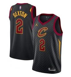 Men's Cleveland Cavaliers #2 Collin Sexton Jordan Brand Black 2020-21 Swingman Jersey