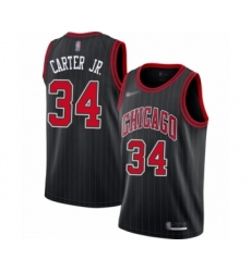 Men's Chicago Bulls #34 Wendell Carter Jr. Authentic Black Finished Basketball Jersey - Statement Edition