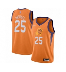 Men's Phoenix Suns #25 Mikal Bridges Authentic Orange Finished Basketball Jersey - Statement Edition