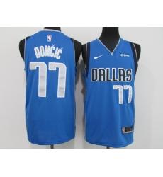 Men's Dallas Mavericks #77 Luka Doncic Blue Nike Royal Swingman Jersey