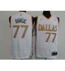 Men's Dallas Mavericks #77 Luka Doncic Nike White Swingman Player Jersey