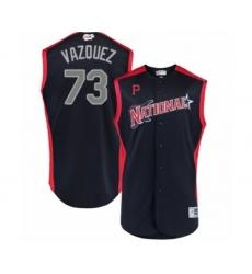Men's Pittsburgh Pirates #73 Felipe Vazquez Authentic Navy Blue National League 2019 Baseball All-Star Jersey