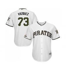 Men's Pittsburgh Pirates #73 Felipe Vazquez Replica White Alternate Cool Base Baseball Jersey