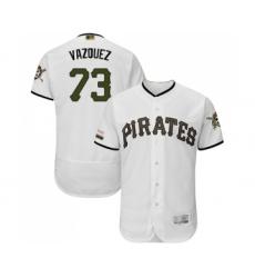 Men's Pittsburgh Pirates #73 Felipe Vazquez White Alternate Authentic Collection Flex Base Baseball Jersey