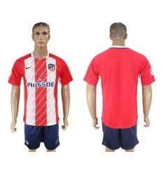 Atletico Madrid Blank Home Soccer Club Jersey2