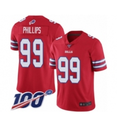 Men's Buffalo Bills #99 Harrison Phillips Limited Red Rush Vapor Untouchable 100th Season Football Jersey