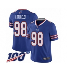 Men's Buffalo Bills #98 Star Lotulelei Royal Blue Team Color Vapor Untouchable Limited Player 100th Season Football Jersey