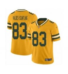 Men's Green Bay Packers #83 Marquez Valdes-Scantling Limited Gold Inverted Legend Football Jersey