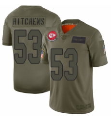 Men's Kansas City Chiefs #53 Anthony Hitchens Limited Camo 2019 Salute to Service Football Jersey