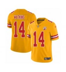 Youth Kansas City Chiefs #14 Sammy Watkins Limited Gold Inverted Legend Football Jersey