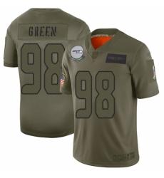 Men's Seattle Seahawks #98 Rasheem Green Limited Camo 2019 Salute to Service Football Jersey