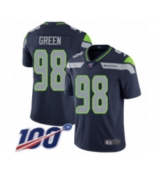 Men's Seattle Seahawks #98 Rasheem Green Navy Blue Team Color Vapor Untouchable Limited Player 100th Season Football Jersey