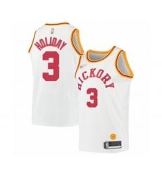 Men's Indiana Pacers #3 Aaron Holiday Swingman White Hardwood Classics Basketball Jersey