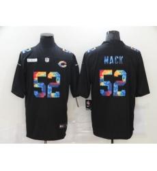 Men's Chicago Bears #52 Khalil Mack Rainbow Version Nike Limited Jersey
