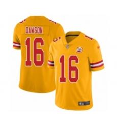 Youth Kansas City Chiefs #22 Orlando Scandrick Limited Gold Inverted Legend Football Jersey
