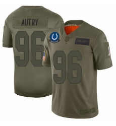 Men's Indianapolis Colts #96 Denico Autry Limited Camo 2019 Salute to Service Football Jersey