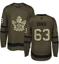 Men's Adidas Toronto Maple Leafs #63 Tyler Ennis Authentic Green Salute to Service NHL Jersey