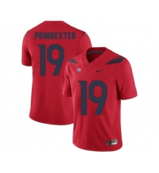 Arizona Wildcats 19 Shawn Poindexter Red College Football Jersey