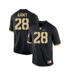Army Black Knights 28 Nick Schrage Black College Football Jersey