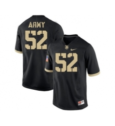 Army Black Knights 52 Spencer Welton Black College Football Jersey