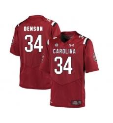 South Carolina Gamecocks 34 Mon Denson Red College Football Jersey