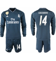 2018-19 Real Madrid 14 CASEMIRO Away Long Sleeve Soccer Jersey