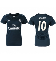 2018-19 Real Madrid 10 MODRIC Away Women Soccer Jersey
