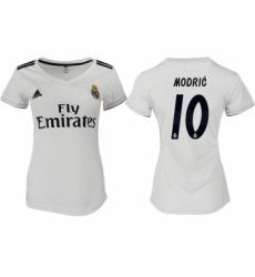 2018-19 Real Madrid 10 MODRIC Home Women Soccer Jersey