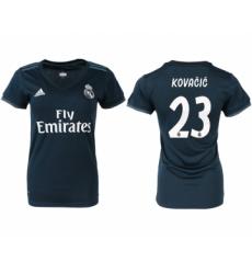 2018-19 Real Madrid 23 KOVACIC Away Women Soccer Jersey
