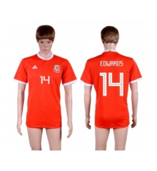 2018-19 Wales 14 EDWARDS Home Thailand Soccer Jersey