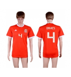2018-19 Wales 4 DAVIES Home Thailand Soccer Jersey
