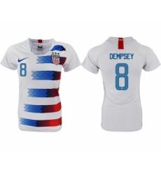 2018-19 USA 8 DEMPSEY Home Women Soccer Jersey